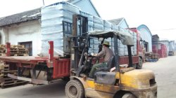 Ready to load container