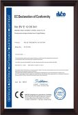 CE Certificate of Pneumatic Actuator