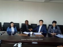 Hanfa Group signed a cooperation agreement with Nigeria customer.