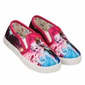 Hand Painted Casual Sneakers Cartoon Pattern Unisex Canvas Shoes