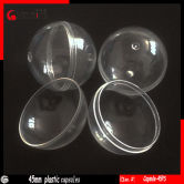 Clear 45mm plastic capsules