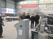 Customer from Pakistan came to our factory to inspect his machine