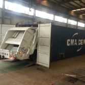 16 units Dongfeng garbage compactor truck ship to Paraguary