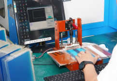 Glass cutting test- Touch screen production process