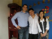Austria customer visited our factory in 2010 year