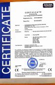 Convection oven series CE Certificate