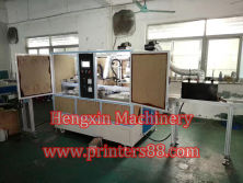 Automatic two color screen printer