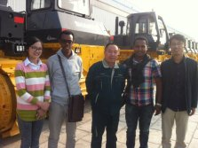 Ethiopia Client Visit for Shantui Bulldozer, Crusher,Genset