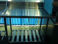 Stainless steel 304 workbench for dishwasher