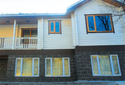 Top Class Oak, Teak, Larch, Pine Wood Aluminum Casement Windows