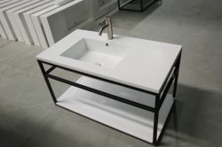 Vanity Sink with metal frae