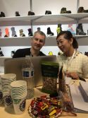 SangRouLLa discuss with Amazon Las Vegas Shoe Show