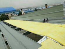 Roof glass wool construction