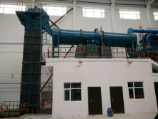 Dryer and bucket elevator on-site