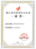 Zhejiang Province science and technology enterprises certificate