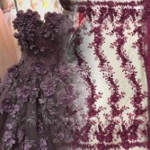 3D Embroidery lace for bridal dress and party gown