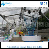 Lighting Truss system with transparent cover canvas