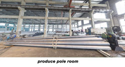 street light pole production room