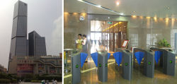 China Mansion Tower Flap Barrier Turnstile