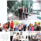 customer visit our factory for pyrolsis and oil distillaiton machine