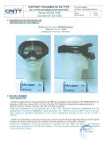 TEST REPORT of MOTOX GOGGLES