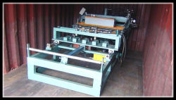Loading of high precison and speed roof curving machine for Arab