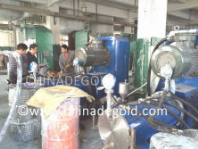 200litre horizontal disc bead mills at Degold parter′s site