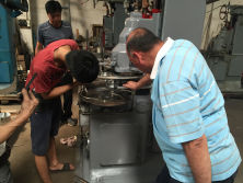Staff of Forstec to Dubai to help customers testing blow molding machine