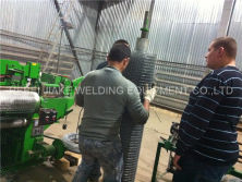 Install electric welded wire mesh rolling machine in Ukraine