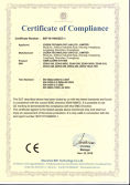 CE Certificate of GSM Alarm System
