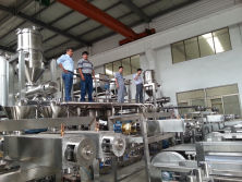 Mexico Clients inspecting their hard candy line in YINRICH factory