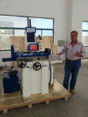 Our South American customer is happed with our surface grinding machine M7125A