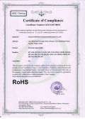 RoHS certification for terminal block