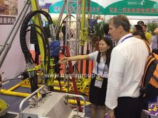Foreign Customer visited our booth for HFP200 hydraulic core drill