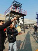 clients from Bangladesh, came to inspect our mobile concrete batching plants.