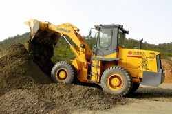 wheel loader Testing in factory