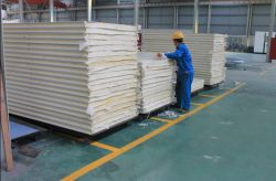 PU wallboard production