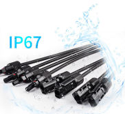 IP67 wired MC4 connector