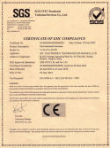 CE Certificate for Environmental Enclosure