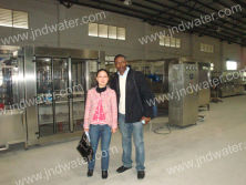 Central African Republic customer in our factory