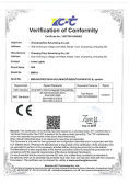 CE certificate of letter lights