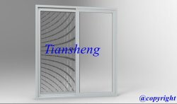 Aluminum sliding door with flyscreen