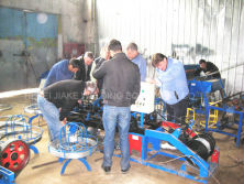 Installation of twisted barbed wire making machine in kazakhstan