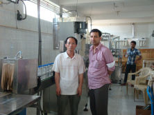 Our engineers installed machines in customer′s Water Plant in Bangladesh