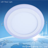 3w 6w 12w 18w Double color aluminum and PMMA SMD led panel downlight