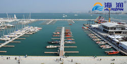 Construction of yacht wharf on aluminum alloy structure of Sanya