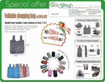 2015 Special offer Foldable Shopping bag in 190T&170T