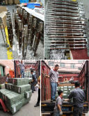 The stainless steel and wood balustrade shipped to Saudi Arabia