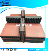 CE Certificated High Eleasticity Rubber Floor Mat 65mm