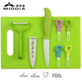 8pcs Ceramic Fruit Tool Set for Knife+Forks+Peeler+Chopping Board